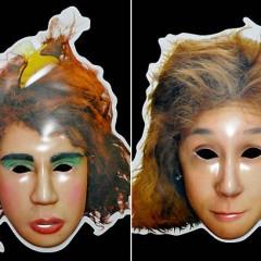 Máscaras de Valéria e Janete para o carnaval