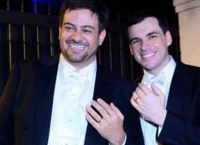 Os famosos no enlace de Bruno Astuto e Sandro Barros