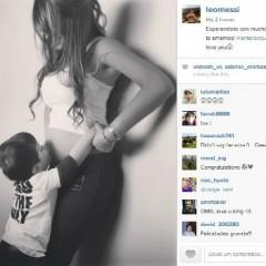 No Instagram, Messi anuncia que será pai novamente