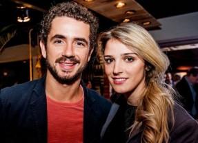 Felipe Andreoli e Rafa Brites no abre do Absolut Art Bar no Recife