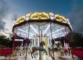 Shopping Recife monta parque temático no estacionamento