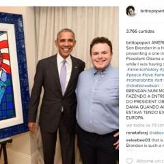 6be2d933a1616 Romero Britto presenteia Obama e Michelle com quadro