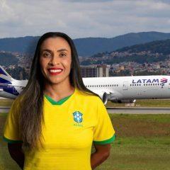 Marta joga no time da Latam
