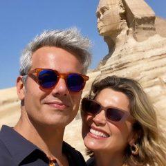Flávia Alessandra e Otaviano Costa celebram 15 anos de casamento com viagem para o Egito