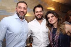 Sávio Cardoso, Heracliton Diniz e Marina Ávila - Crédito: Roberto Ramos/DP
