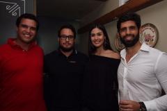 Marcos Travassos, Tom Santos, Manuella Falcão e Simon Carrazone - Crédito: Roberto Ramos/DP