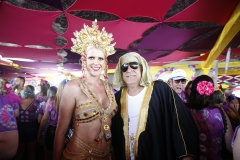 PE - Recife - 22/02/2020 - Blog JA - Rosa Freitas e Lincon no Camarote Balanca Rolha, no sabado de carnaval em Recife. Foto : Anderson Freire / Esp DP Foto