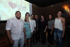 Jaime Amorim, Renata Lago, Nilson Samico, Renata Cavalcanti, Natália Lelis do time da Ampla e Shopping Recife