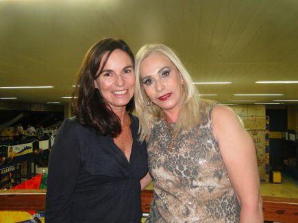 Márcia Braga, que assina a produção do longa, e Rosinha, filha de Luiz Gonzaga // Crédito: Luíza Tiné/DP/D.A. Press