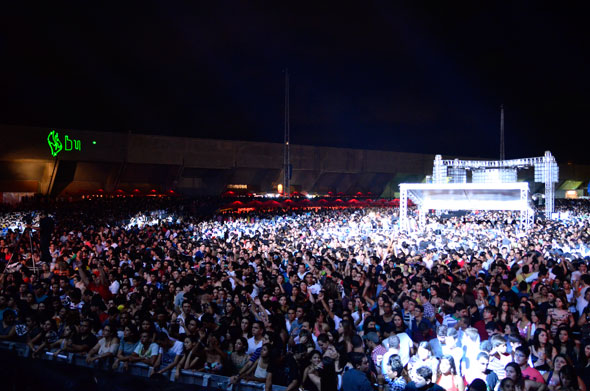Vista da plateia do show - Foto: Gabriel Ferreira/Divulgação