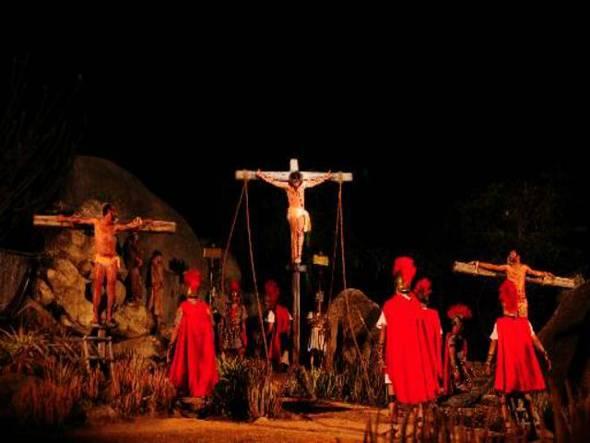 Paixão de Cristo de Nova Jerusalém. Crédito: Annaclarice Almeida/DP/D.A Press