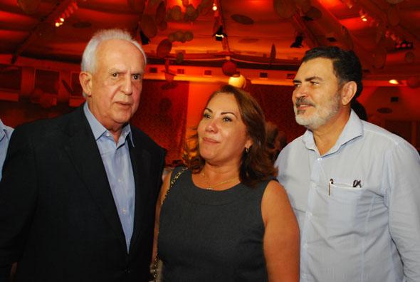 Jarbas Vasconcelos, Mirian Lacerda e Tony Gel / Crédito: Nando Chiappetta/DP/D.A Press