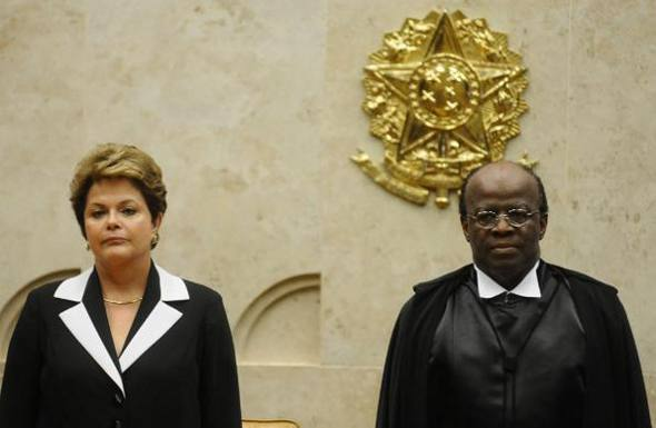 Dilma Roussef e Joaquim Barbosa/Monique Renee/Correio Braziliense