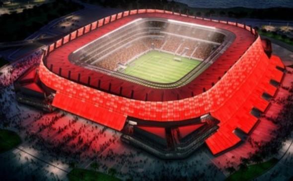 O projeto da Arena Pernambuco - Crédito: Ministério do Esporte/Divulgação