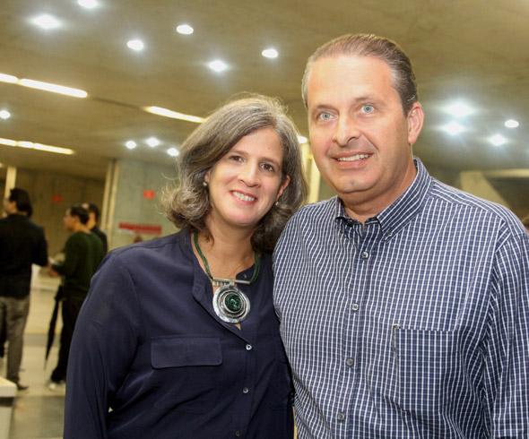 Renata  e Eduardo Campos - Crédito : Nando Chiappetta/DP/D.A Press