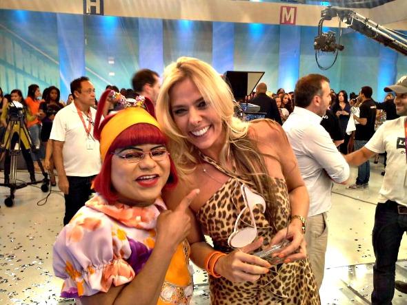 Cinderela participou da brincadeira ao lado de Adriane Galisteu - Crédito: Cinderela/Arquivo pessoal