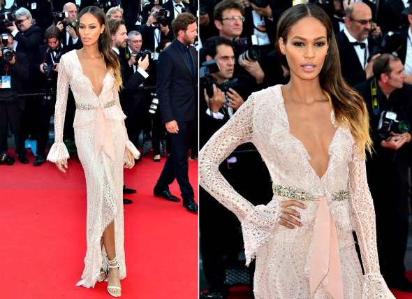 A modelo Joan Smalls de Emilio Pucci - Crédito: Getty Images