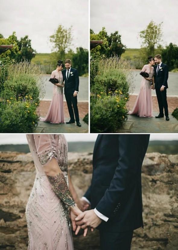 A noiva conservou o seu estilo e ousou no modelo para seu casamento no campo - Imagens: Jonas Peterson