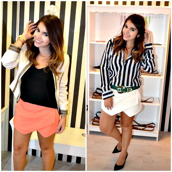 A blogueira Eduarda Alves, do blog Dear Closet, apostou em dois tons da saia que virou tendência  - Crédito: Reprodução do blog Dear Closet