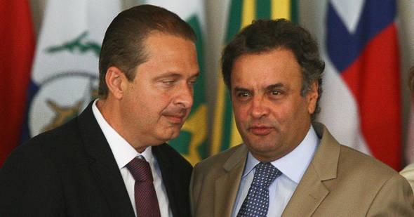 Os presidenciáveis Eduardo Campos e Aécio Neves  - Foto: Blog do Tato/Reprodução