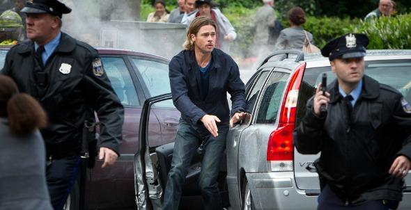 Brad Pitt estrela o filme Guerra Mundial Z, o primeiro mais visto em todos os cinemas do Brasil - Crédito: Divulgação/guerramundialz.com.br