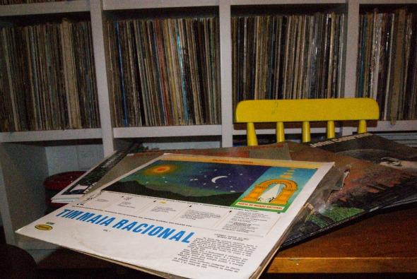 Um dos discos raros, o Tim Maia Racional Crédito: Laís Siqueira/DP/D.A Press