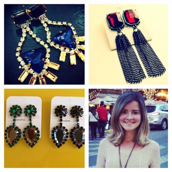 A designer Alynne Borba e seus maxibrincos da moda - Foto: Instagram/Reprodução