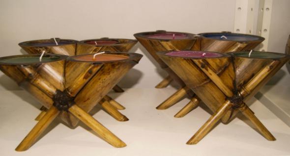 Vela feita de bambu Crédito: Laís Siqueira/DP/D.A Press