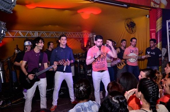 A banda Só na Marosidade participou do agito - Crédito: