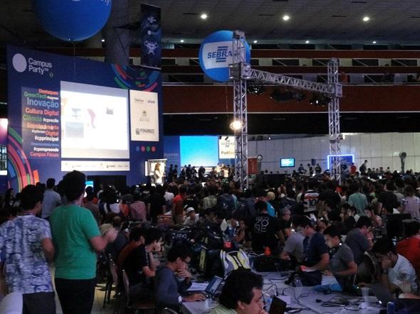 Última edição da Campus Party Recife – Crédito: Reprodução Facebook