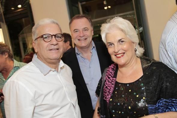 Carlos Pragana,  Luciano Paiva e Nenen Brennand