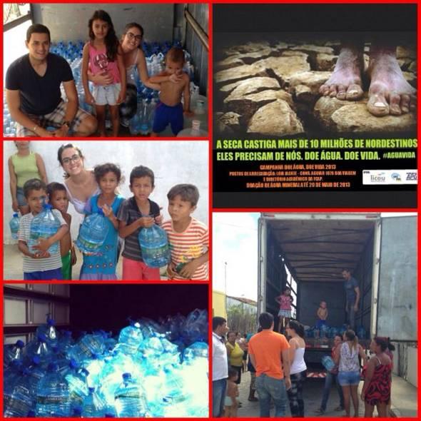 Cecília Peixoto na entrega de donativos para vítimas da seca em Pernambuco - Imagens: Instagram/Reprodução