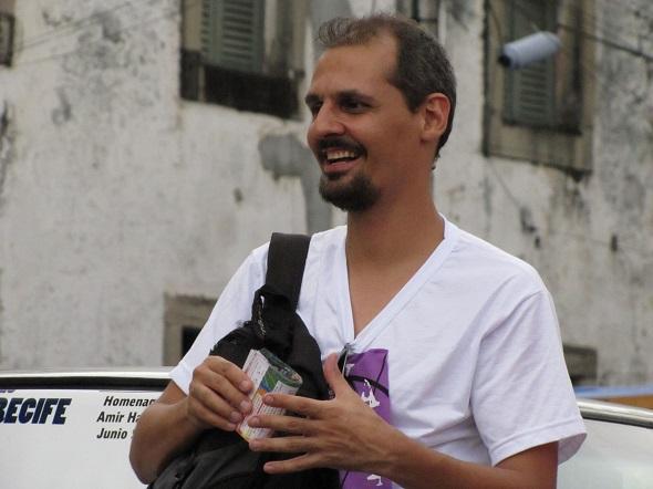 Leidson Ferraz participa da conversa - Crédito: Luiz Filho