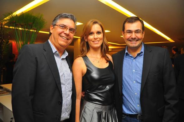 Carlos Queiroz, Manuela Fernandes e Dilamar Dall'Agnol  Crédito: Bruna Monteiro/DP/D.A Press