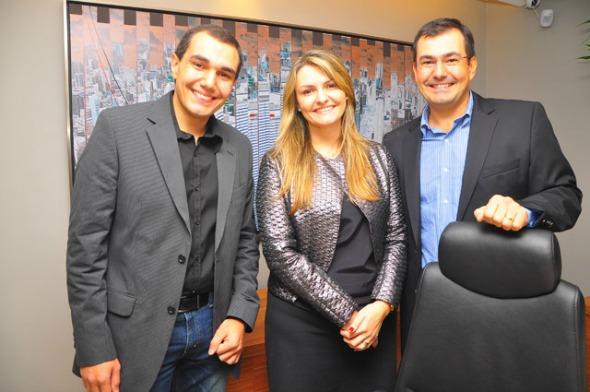 Os sócios Daltro, Diriane e Dilamar  Crédito: Bruna Monteiro/DP/D.A Press