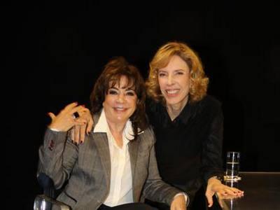 Iris Abravanel e Marlía Gabriela/Foto Carol Soares/SBT/Divulgação