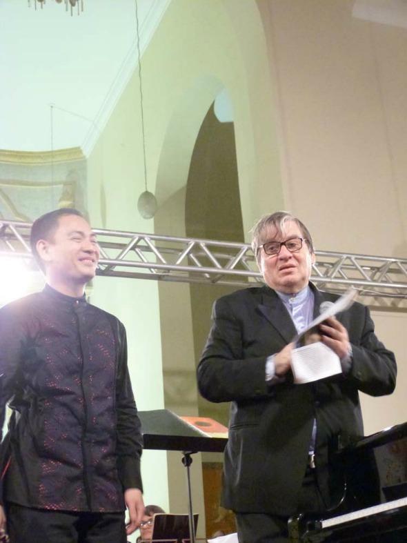 O pianista Victor Asuncion e o mastro Rafael Garcia Crédito: Fernanda Tavares