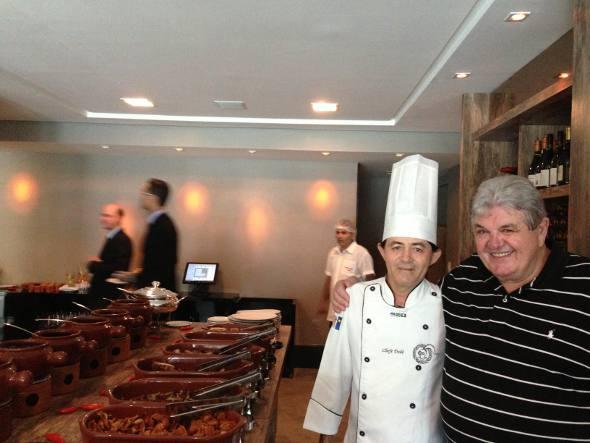 O chef Dedé e Julião Konrad
