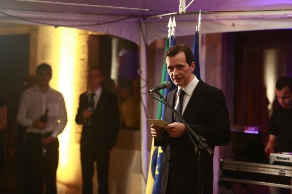 O cônsul Patrice discursa Crédito: Bernardo Dantas/DP/D.A Press