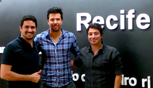 Pablo Magalhães, Doni e Tiago Saman - Crédito Pablo Magalhães/Arquivo pessoal
