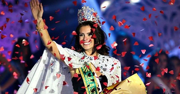 A miss Brasil, Gabriela Markus, vai presidir a mesa do júri nesta noite - Crédito: Miss Brasil/Divulgação
