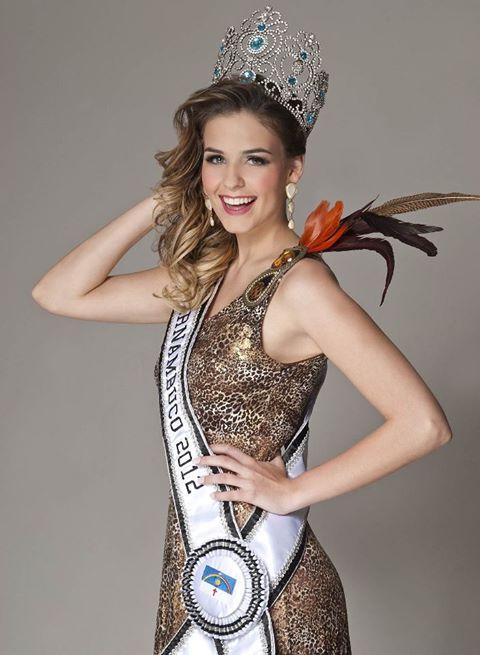 Paula Luck, a Miss Pernambuco 2012 - Crédito: Miss Pernambuco/Divulgação