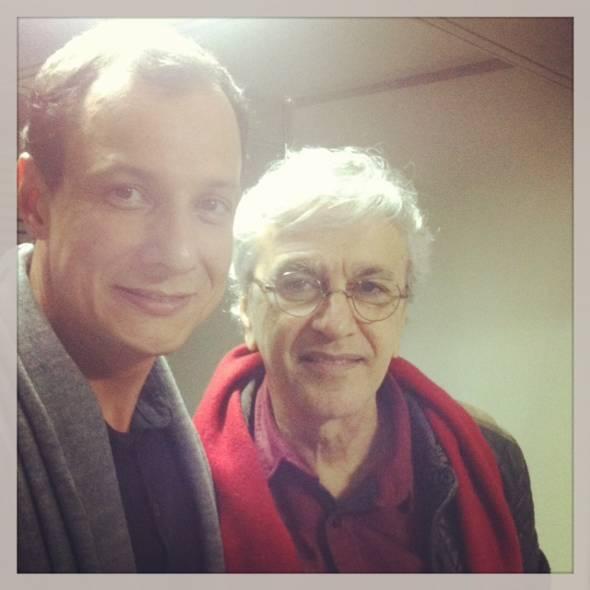 Fábio Rogério e Caetano Veloso no camarim - Foto: Instagram/Reprodução