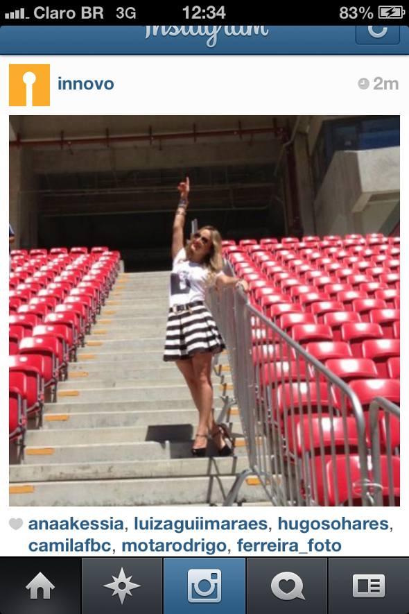 Cláudia Leitte na Arena. Crédito: Reprodução Instagram @Innovo