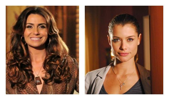 Giovanna Antonelli e Alinne Moraes Crédito: TV Globo/Divulgação