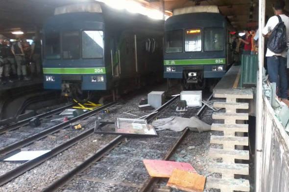 Destruição no Metro do Recife/Foto DP