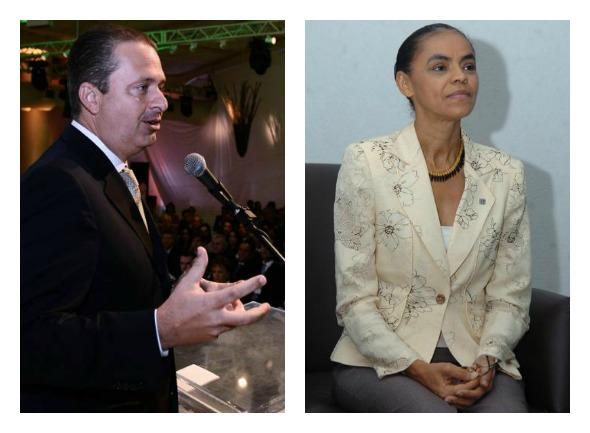 Eduardo e Marina Crédito: Aloísio Moreira e Juarez Rodrigues/ EM/ D.A Press