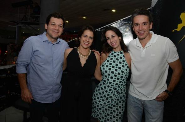 Geraldo Julio, Cristina Mello, Fabiana e Felipe Carreras Crédito: João Vitor Alves