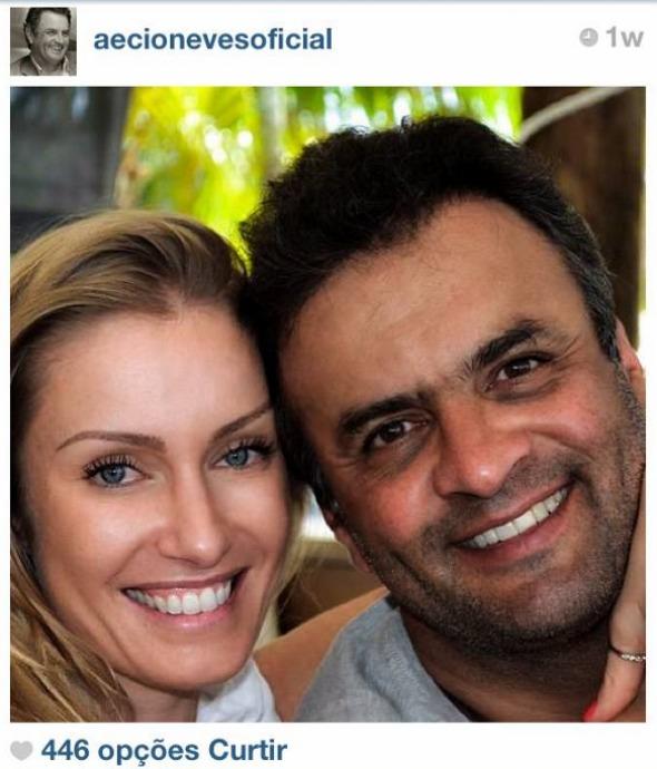 Letícia Weber e Aécio Neves – Foto: Instagram/Reprodução