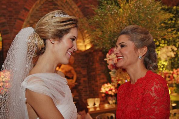 A noiva e Juliana Santos